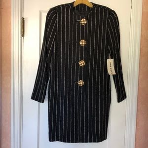David Hayes wool dress with pockets size 6